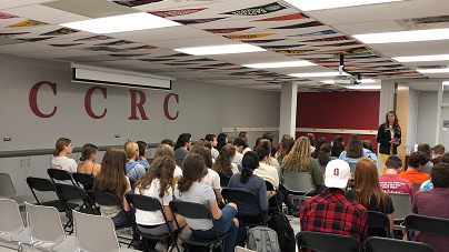Popular college rep visit in the CCRC