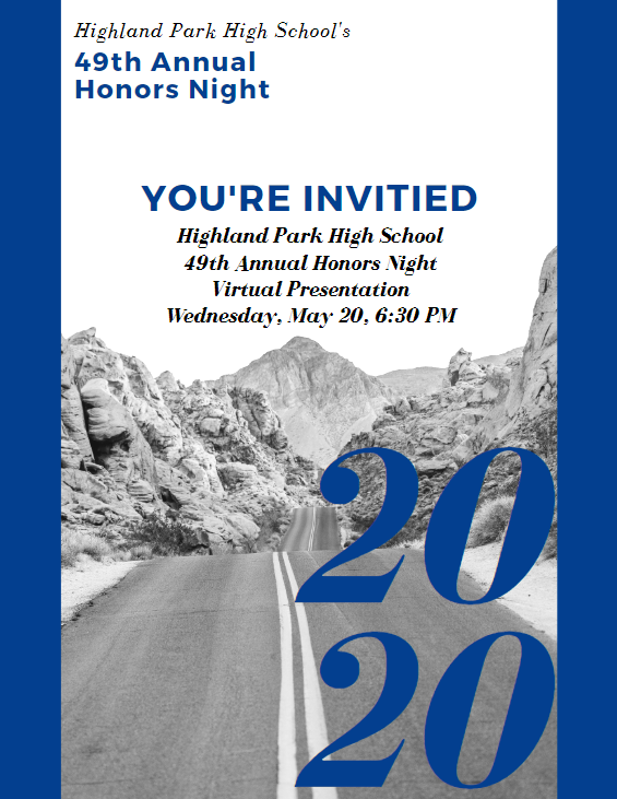 Highland Park High School's 49th Annual Honors Night